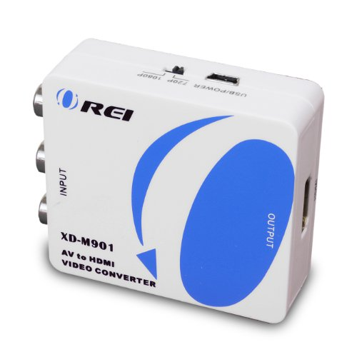 OREI XD-M901 AV Composite Video/Audio RCA CVBS to HDMI Converter - Upscales to 720p/1080p (Tuner Tv Plasma Analog)