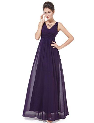 Ever-Pretty Sexy Long Prom Dresses for Juniors 4US Purple (Amethyst Wedding Dress)