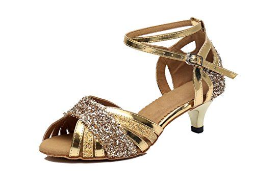 MGM-Joymod - Punta Abierta Mujer Gold/4.5cm Heel
