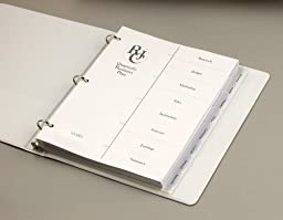 Wilson Jones Dividers, View-Tab, Transparent, Clear Square Tabs, 8-Tab Set (W55068)