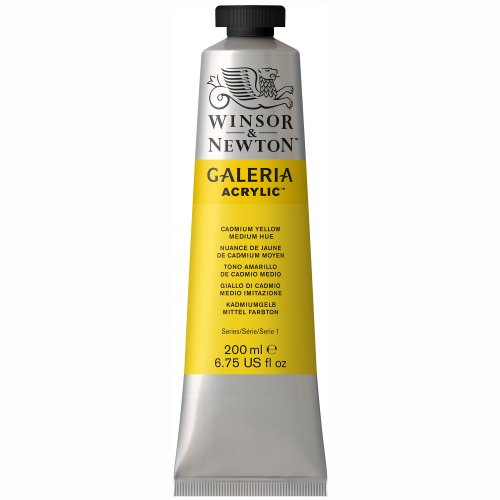 Winsor & Newton Galeria Acrylics - Cadmium Yellow Medium Hue - 200ml Tube