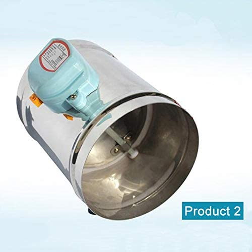 VIJETTAIR 5 INCH Stainless Steel Air Damper Valve Hvac Electric Air Duct Motorized Damper For 5 Inch Ventilation Pipe Valve 220V