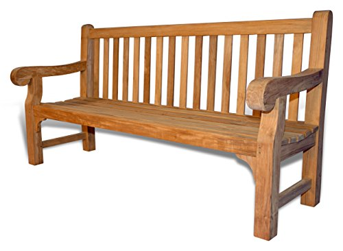 GOLDENTEAK Teak Hyde Park Bench 6 Ft (Bench Garden Colonial)