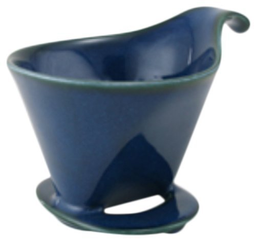 - Bee House Ceramic Coffee Dripper - Large - Drip Cone Brewer (Jeans Blue)