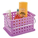 InterDesign Storage Organizer Basket, for Bathroom, Health and Beauty Products - Small, Purple