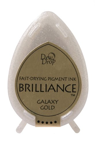 (Tsukineko Brilliance Dew Drop Inkpad, Galaxy Gold)