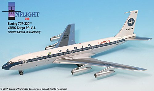 Boeing Aircraft 707 - VARIG Cargo PP-VLL Boeing 707-320 Airplane Miniature Model Diecast 1:200 Part# A012-IF70024