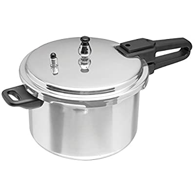 IMUSA A417-80801W Stovetop Polished Aluminum Pressure Cooker , Silver, 7.4 Quart by Imusa USA