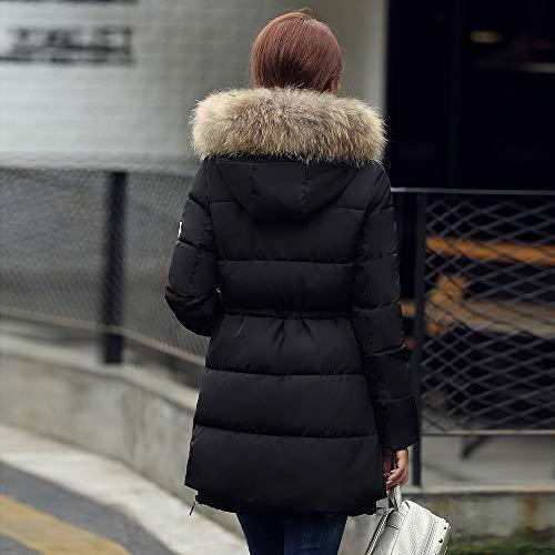L'avant En Couleur Être Coupe Veste Coton Femme Peut Manteau De Et vent À L'arrière Amuster Portée Unie Noir Capuche 7q1wx00