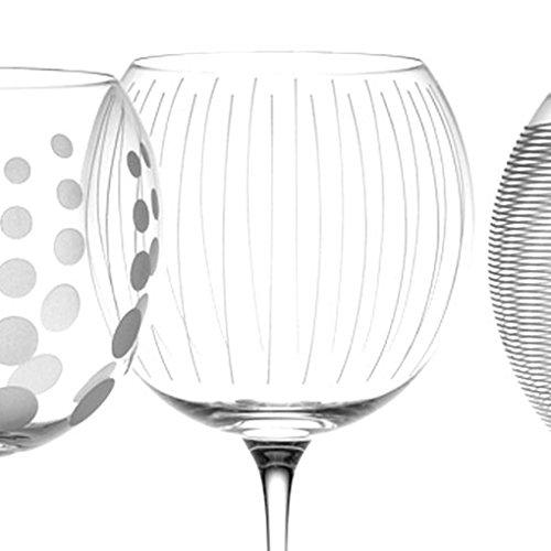 Juego de 4 CREATIVE TOPS Mikasa Cheers Globos de Cristal Gafas