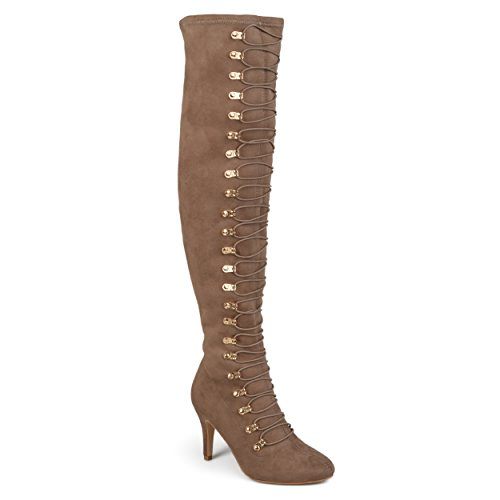 Journee Collection Botte Vintage Et Over-the-knee Femme Taupe