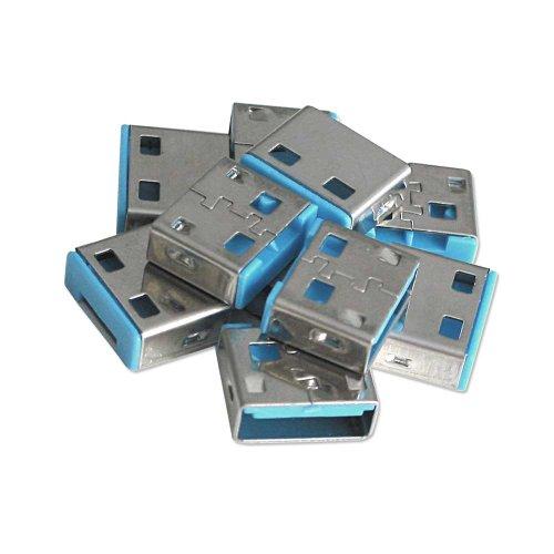 (Lindy USB Port Blocker - Pack of 10 - Blue 40462)