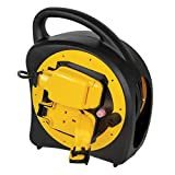 Outdoor Extension Lead 20m Weatherproof Garden Power 2 Way Case Reel UK Plug Socket Splashproof IP54 Rated with Thermal Cut-Out Protection 13A