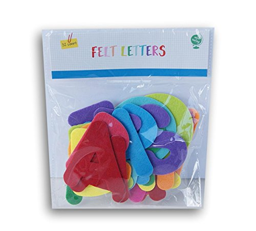 World of Learning Felt Cutout Adhesive Alphabet Letters Set - 32 Count (Cutout Alphabet)
