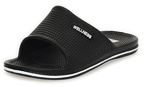 Mujer Chanclas Mocasines Zapatos de playa Zapatillas baño BF 000096 negro