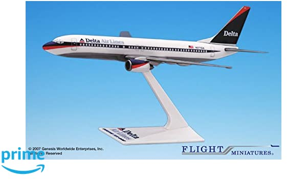 Flight Miniatures Delta Airlines Boeing 757-300 1:200 Scale 2007 Livery w// Stand
