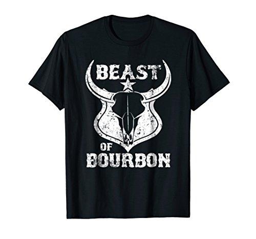 Beast Of Bourbon T Shirt Funny Whiskey Scotch TShirt Gift