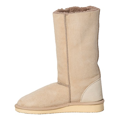 Boots Womens Slipper Shearling British Co amp; Indoor Height Celtic Oatmeal Calf zxqCCHw