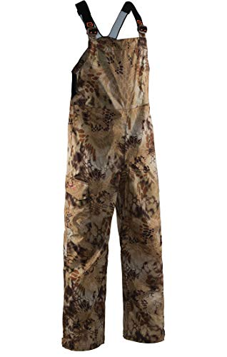 (Grundéns Men's Weather Watch Fishing Bib Trousers, Kryptek Highlander - Large )