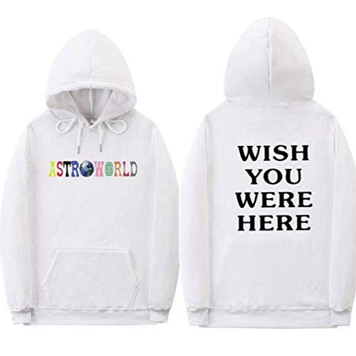 Lunga Scritte Donna Felpa Con Casual Hoodie Cappuccio Velluto Fodera Yuandian Pullover Uomo Were Caldo Wish You Bianco 2 Sportive Here Inverno Autunno Astroworld Maglione Manica In gp8Zq0x5