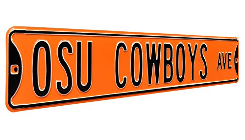 (Authentic Street Signs 70042 Oklahoma State University - Osu Cowboys Ave, Heavy Duty, Metal Street Sign Wall Decor, 36