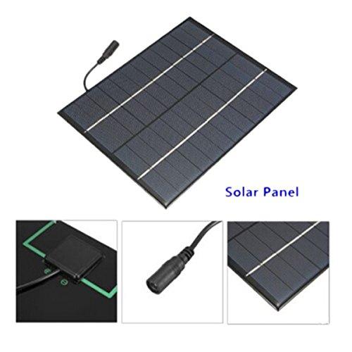 salida de CC REFURBISHHOUSE 12V 5.2W Mini panel solar Celulas solares policristalinas de silicio Sistema de Modulo de bricolaje de Epoxi Solar Cargador de bateria