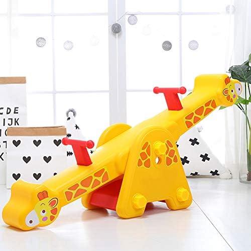 子供用シーソー、ベビーホーム遊具、イージーグリップハンドル付き、裏庭のおもちゃ133x30x58CM、運動用子供用バランス