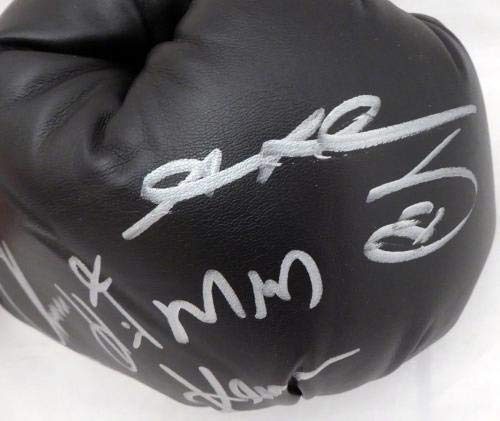Boxing Greats Autographed Boxing Glove 3 Sigs Leonard Hearns Duran 7A91039 PSA/DNA Certified Autographed Boxing Gloves
