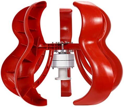 Robasiom 1800 W 12 V vertikale Laterne Typ 5 Flügel 3-Phasen-Dauermagnet Synchron-Windturbine Generator