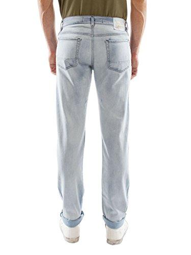 897 Look Uomo Blu super Carrera Elasticizzato Denim Tessuto Per Lavaggio Stone Jeans Wash Chiaro 0qa1awTH