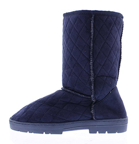 Cold Toe Quinn Women's Classic Quilted Diamond Weather Gold Boot Navy Outdoor BpYOqCwnq