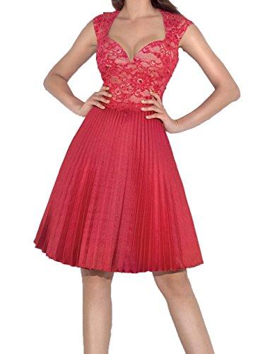 Kurzes Neu 2018 Knielang A Spitze Tanzenkleider Damen Abendkleider Charmant Heimkehr Linie Rot Cocktailkleider Rock SqpwIEn