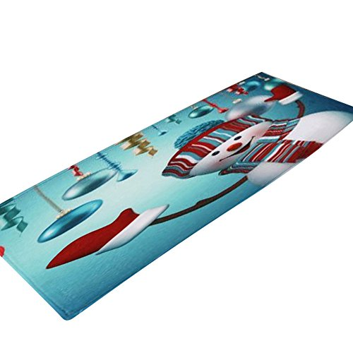 JPJ(TM) ❤Bathroom Carpet❤1pcs Hot Fashion Christmas Floor Entrance Door Bathroom Mat Indoor Bathtub Carpet Doormats Decor (F) by JPJ(TM) _Christmas products
