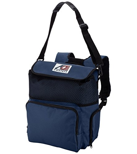 AO Coolers Backpack Soft Cooler with High-Density Insulation, Navy, 18-Can