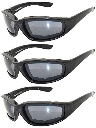OWL - Padded Riding Glasses - Smoke Lens (3 (Padded Glasses)