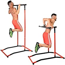 GoBeast Pull Up Bar Dip Stand - Power Tower - Calisthenics Outdoor Workout Station - Multiple Exercises - Portable Gym Includes Instruction Manual and Storage Bag - Max User Weight 240lbs