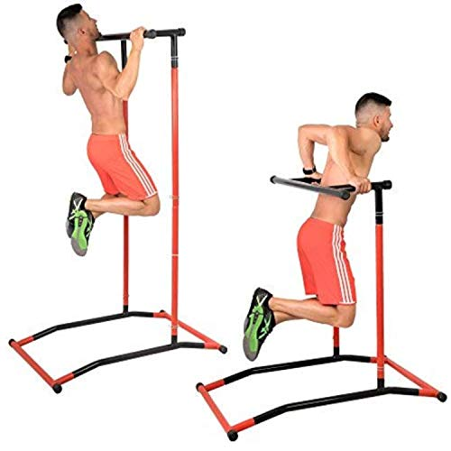 GoBeast Pull Up Bar and Dip Station, Portable Steel Power Tower, Includes Carry Bag, Requires No Tools, Workout Inside or Out, Improve Core Stability With Body-weight workouts, Max User Weight - Up Station Portable Pull