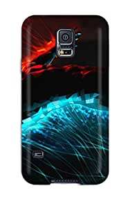 1223012K57576990 Premium Protection 3d Graphics Fire And Water5126 Case Cover For Galaxy S5- Retail Packaging