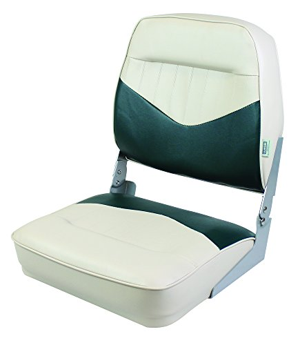 Wise 8WD418-802 Contoured Foam Standard Folding Boat Seat, Cuddy Poplar Green/Cuddy -
