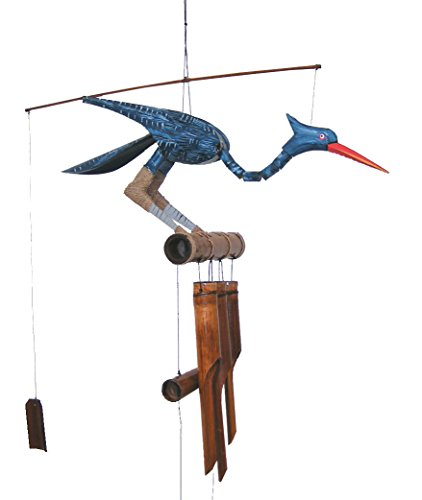 Cohasset Gifts 147B Cohasset Happy Bobbing Head Bird Bamboo Wind Chime ()