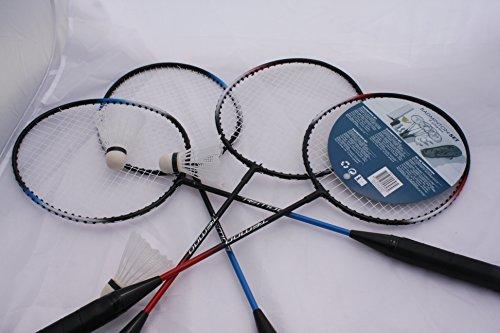 Badminton-Set mit Spielnetz Badminton Spielset Federball für 4 Personen + Tasche ejhfc