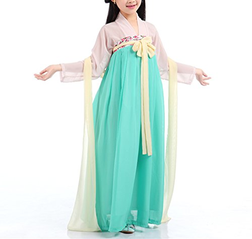 (SEVEN O Girls Child Ancient Chinese Traditional Cosplay Costumes Hanfu Fancy Dress (C,)