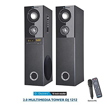 dh discovery dj 1212 2 0 multimedia tower with 10 inch single woofer price:  buy dh discovery dj 1212 2 0 multimedia tower with 10 inch single woofer  online