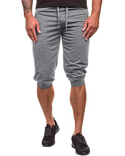 MODCHOK Men's 3/4 Jogger Pants Sport Shorts Sweatpants Elastic Capri Sweats Running Trouser Slim Fit Tracksuit Grey3 S
