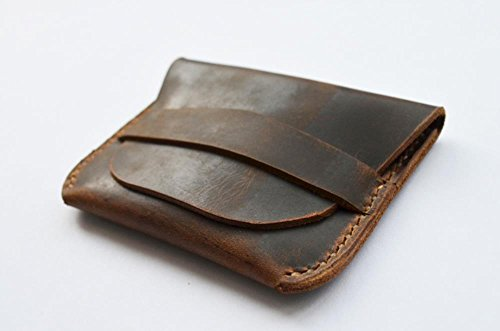 (PASSION juneTree brown genuine leather handmade coin pouch Purses wallet D0611)