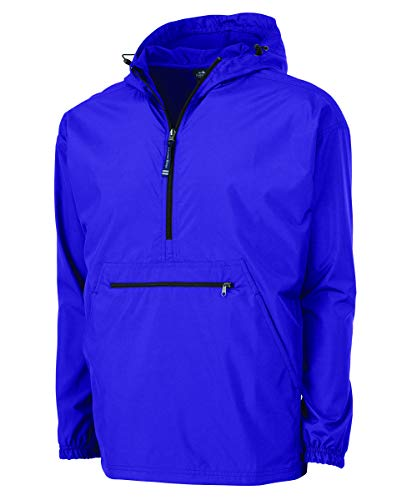 Charles River Apparel Pack-N-Go Wind & Water-Resistant Pullover (Reg/Ext Sizes), Purple, 3XL