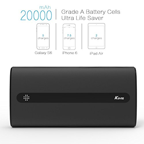 0f52b96ac Kans 20000mAh Power Bank with 2 USB Ports 2.1A Output for ...