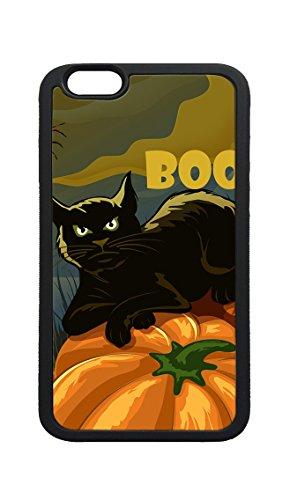 iPhone 8 Plus Case,Black Cat On Pumpkin Boo Halloween Design TPU Case Protective Cover Skin for iPhone 8 Plus -
