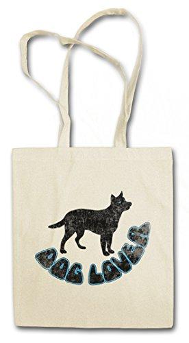 DOG LOVER Hipster Shopping Cotton Bag Borse riutilizzabili per la spesa – caro canino cane protezione degli animali Dogs Love Pet Tierschutz Animal Welfare