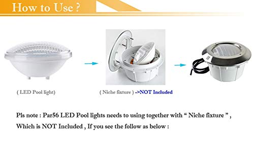Amazon.com: RGB with remote, 35W : Par56 led swimming pool light aquario underwater piscina 12V IP68 40W 35W 24W 18W 54W for fountain pond aquarium: Home ...